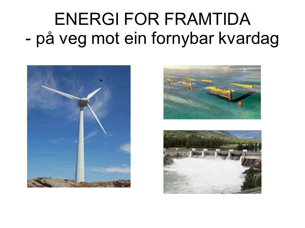 ENERGI FOR FRAMTIDA - på veg mot ein fornybar kvardag