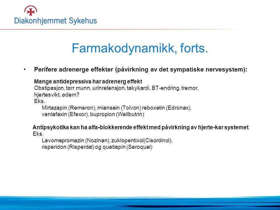 Farmakodynamikk, forts.