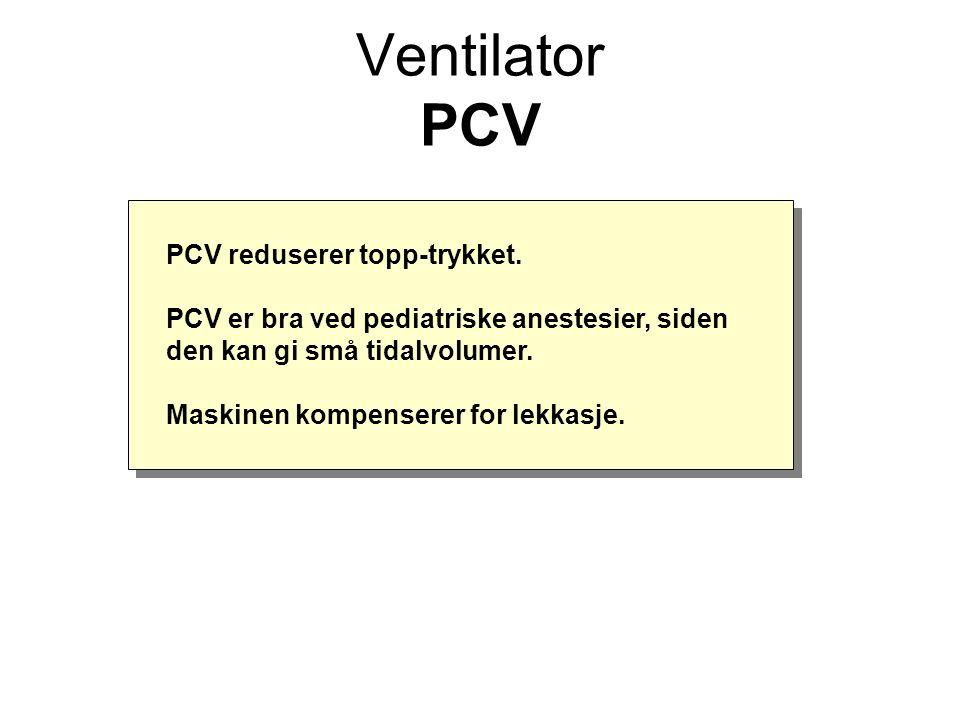 PCV reduserer topp-trykket.