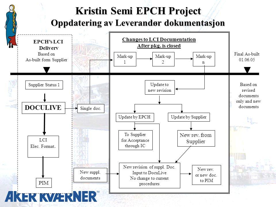 Kristin Semi EPCH Project Oppdatering av Leverandør dokumentasjon LCI Elec.