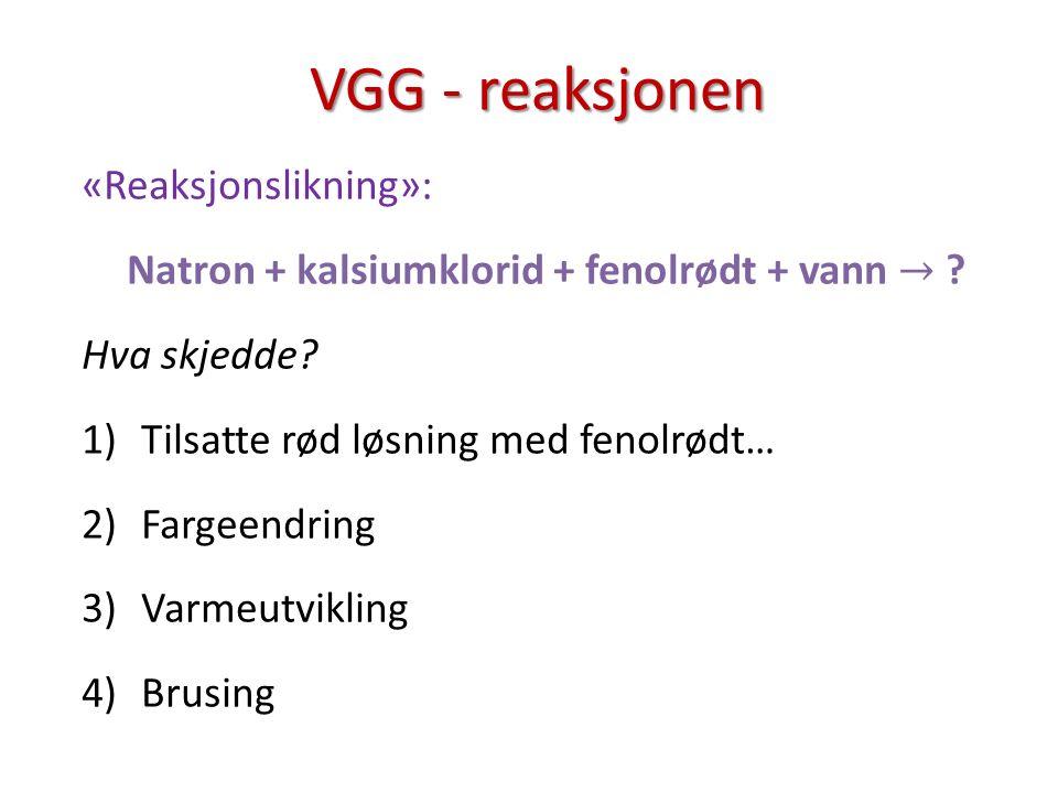 VGG - reaksjonen VGG - reaksjonen