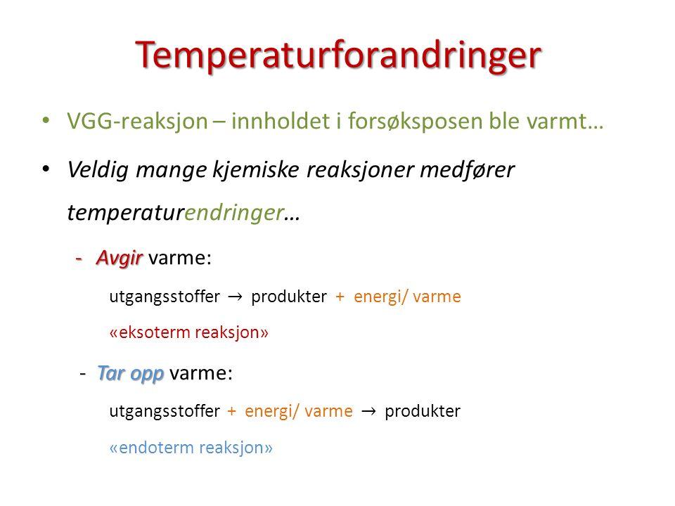 Temperaturforandringer