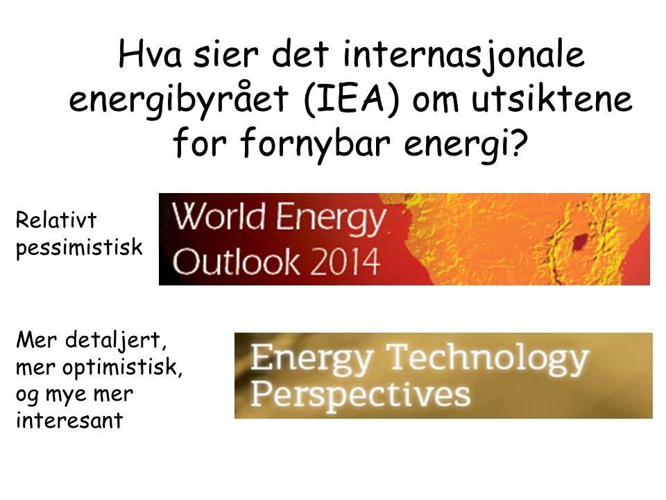 Hva sier det internasjonale energibyrået (IEA) om utsiktene for fornybar energi.