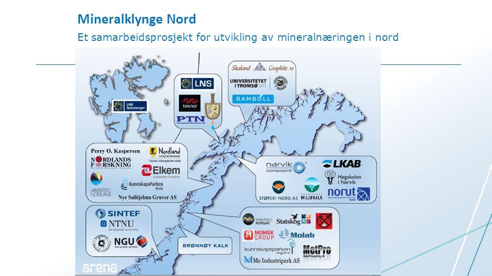 Et samarbeidsprosjekt for utvikling av mineralnæringen i nord Mineralklynge Nord