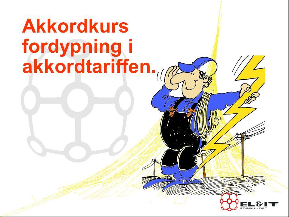 Historie Arbeidet startet i Oslo avdelingen i 1930 En komité beregnet priser I 1931 reiste forbundet krav om akkordtariff I 1937 var det en 4 måneder lang streik som førte til seier Akkordtariffen gjaldt kun Oslo og Aker Etter krigen fikk resten av landet også benytte akkordtariffen På 1970 og 1980 tallet var akkord hovedlønns systemet