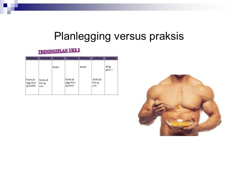 Planlegging versus praksis