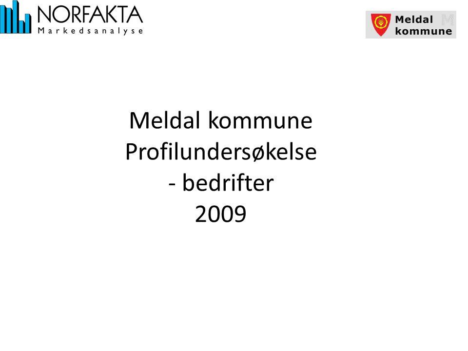 Meldal kommune Profilundersøkelse - bedrifter 2009