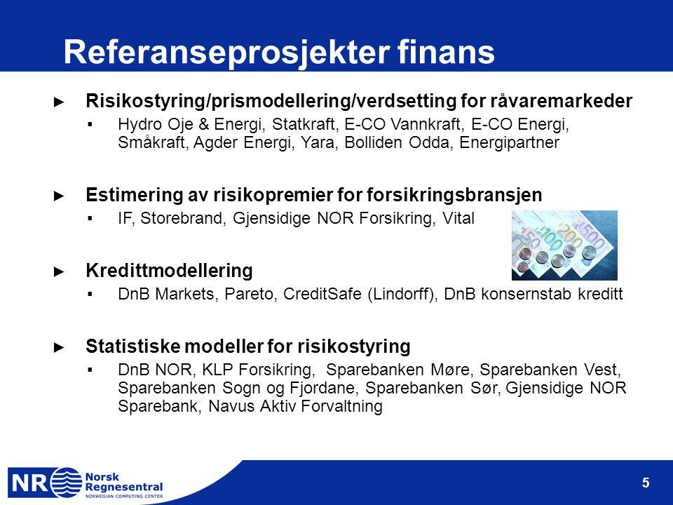 6 SFI ► NR ble 15 juni 2006 valgt ut som ett av 14 sentre for forskningsdrevet innovasjon (SFI).