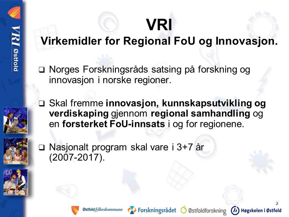 2 VRI Virkemidler for Regional FoU og Innovasjon.