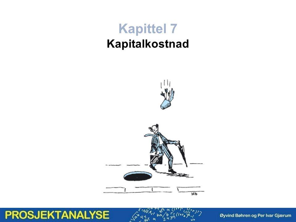 Egenkapitalkostnad etter skatt Gjeldskostnad før skatt KVM for egenkapital og for gjeld Gjeldskostnad etter skatt