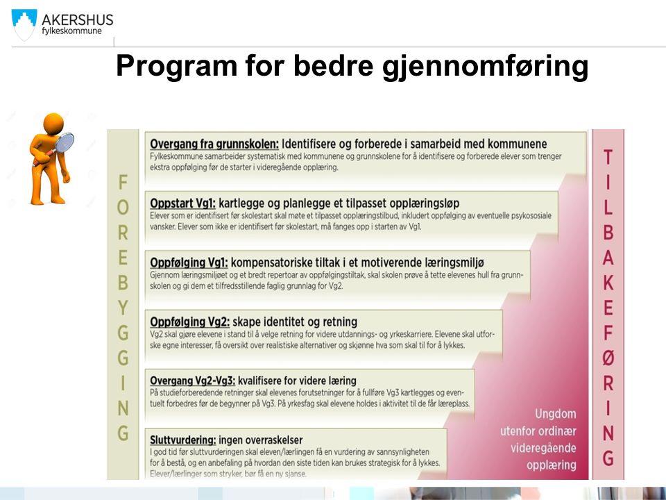 Program for bedre gjennomføring