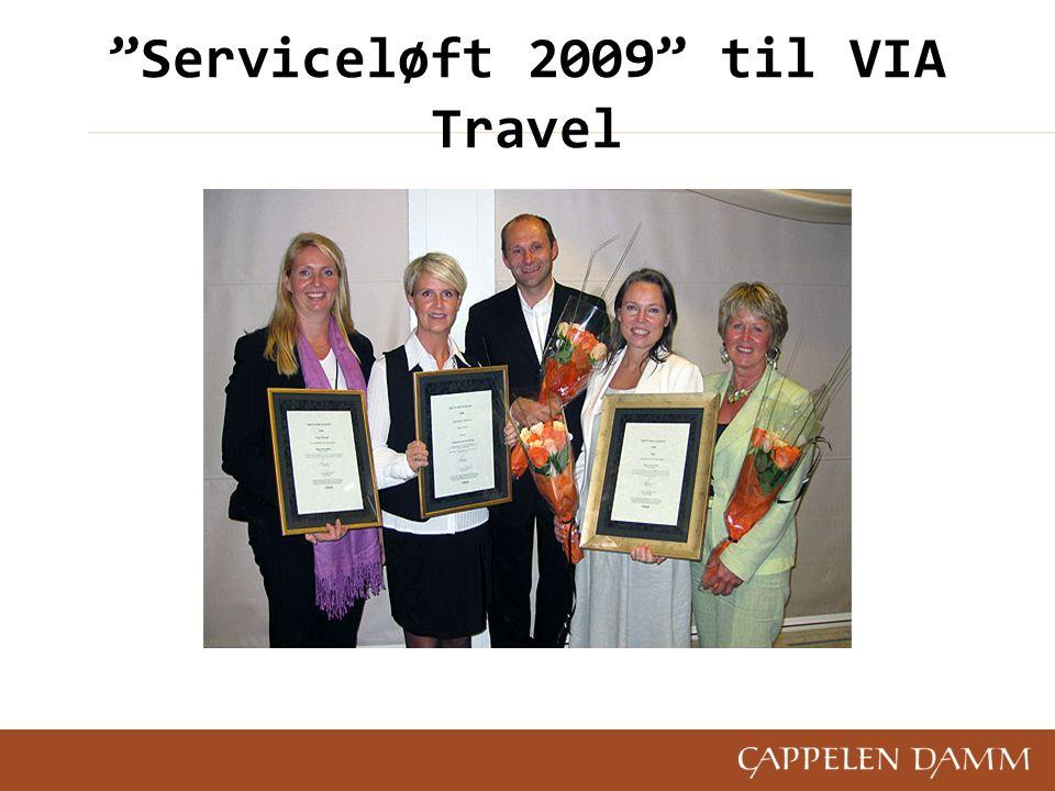 """""""Serviceløft 2009"""" til VIA Travel"""