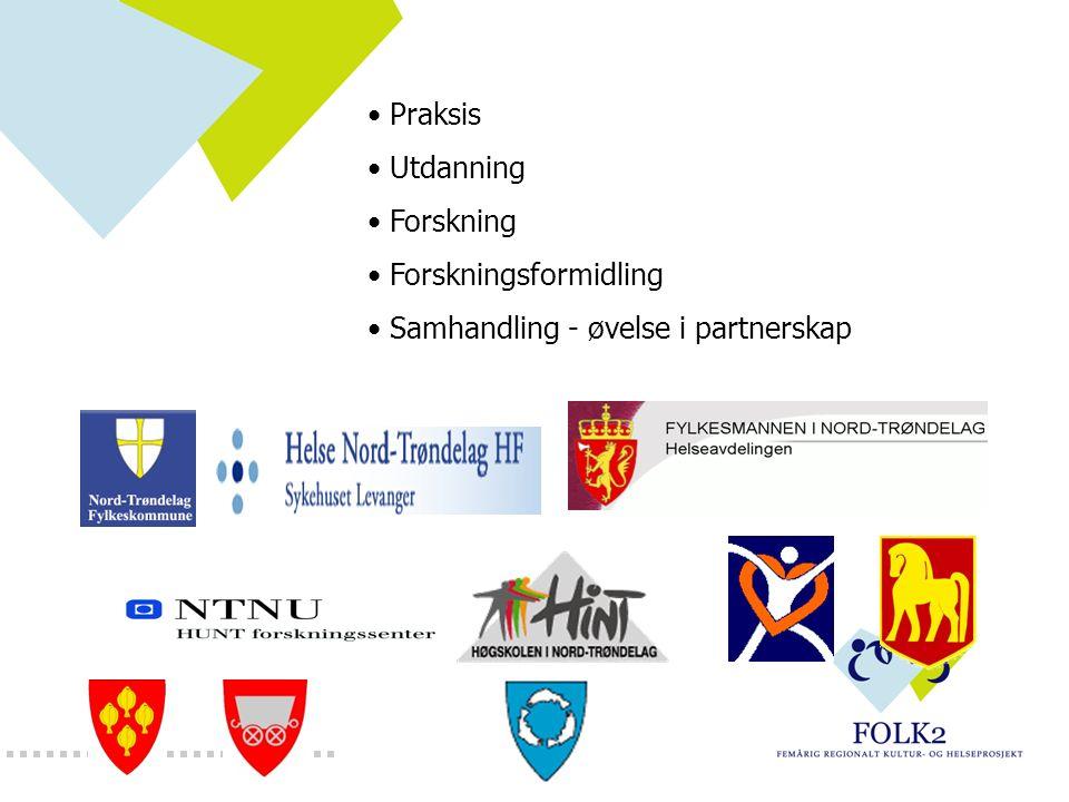 Praksis Utdanning Forskning Forskningsformidling Samhandling - øvelse i partnerskap