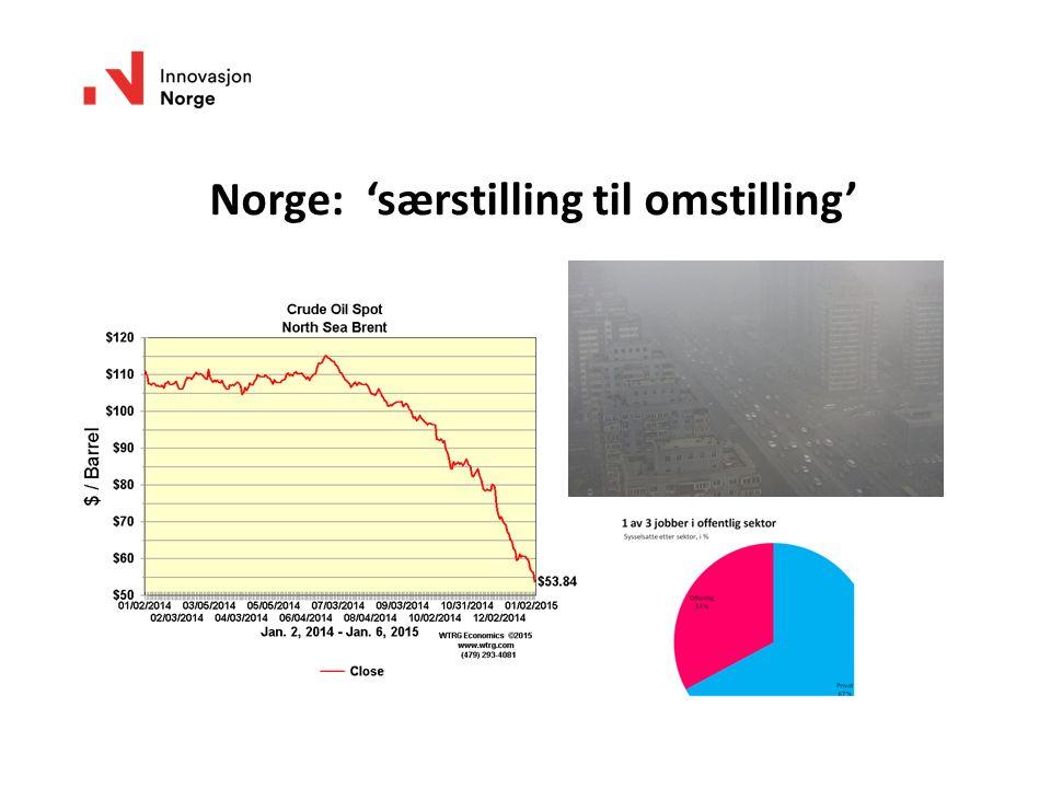 Norge: 'særstilling til omstilling'