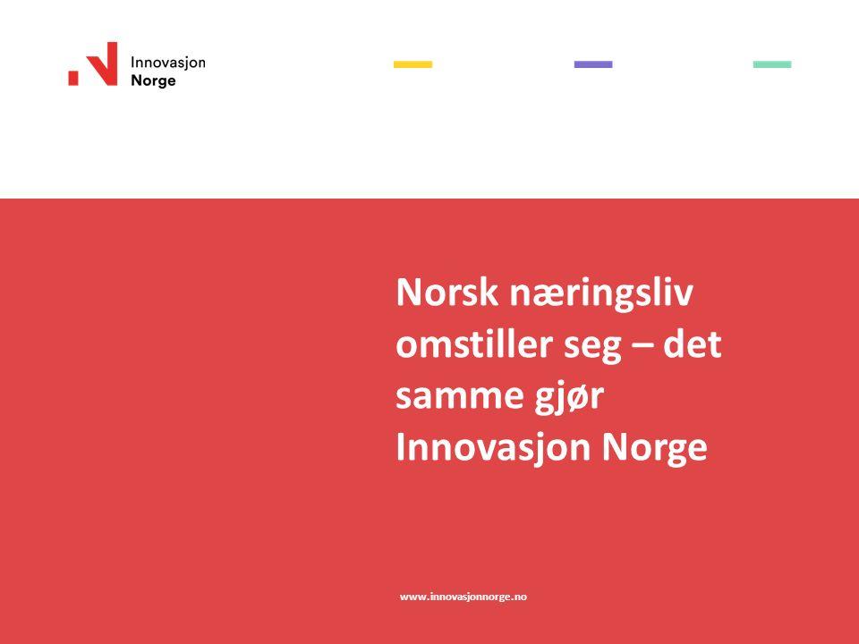 Norsk næringsliv omstiller seg – det samme gjør Innovasjon Norge www.innovasjonnorge.no