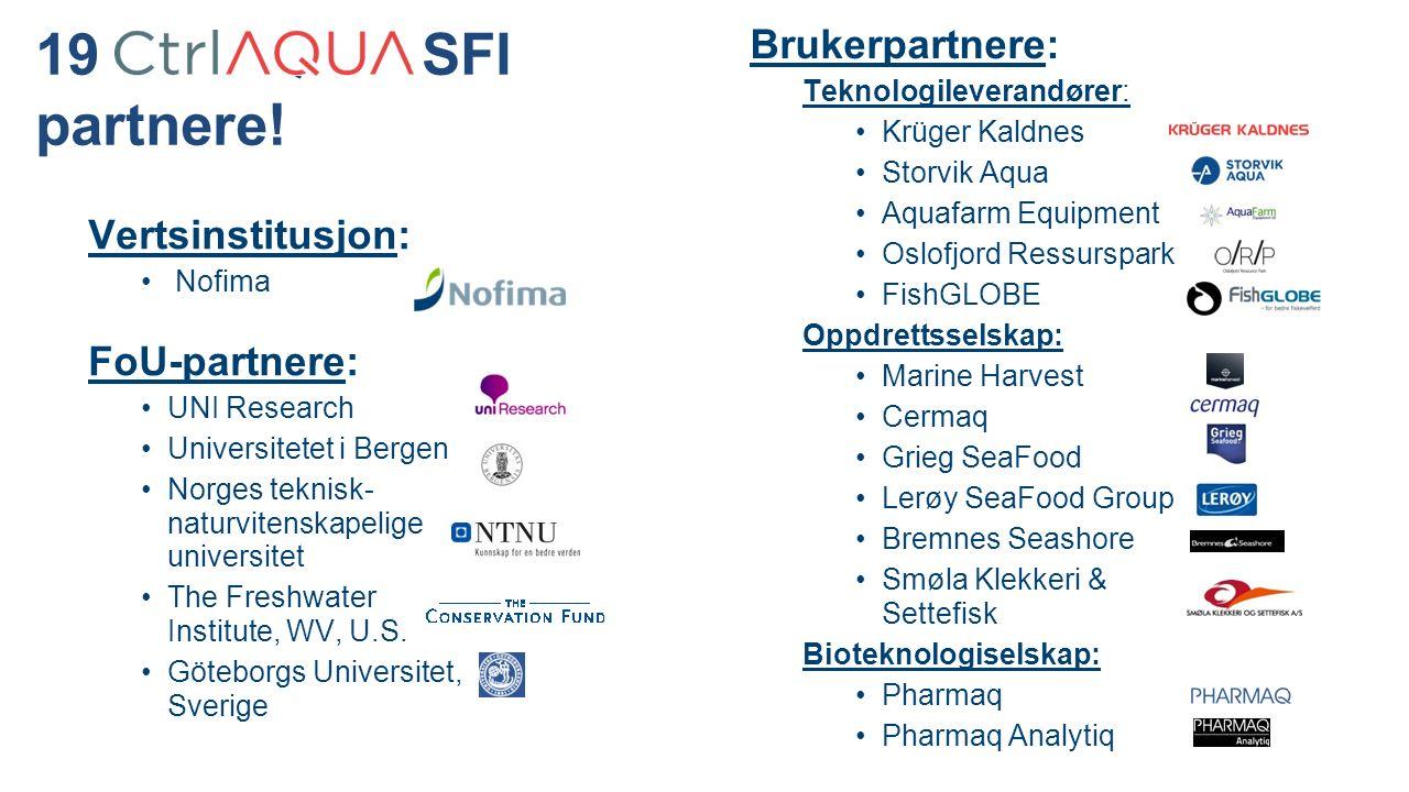 19 CtrlAQUA SFI partnere.