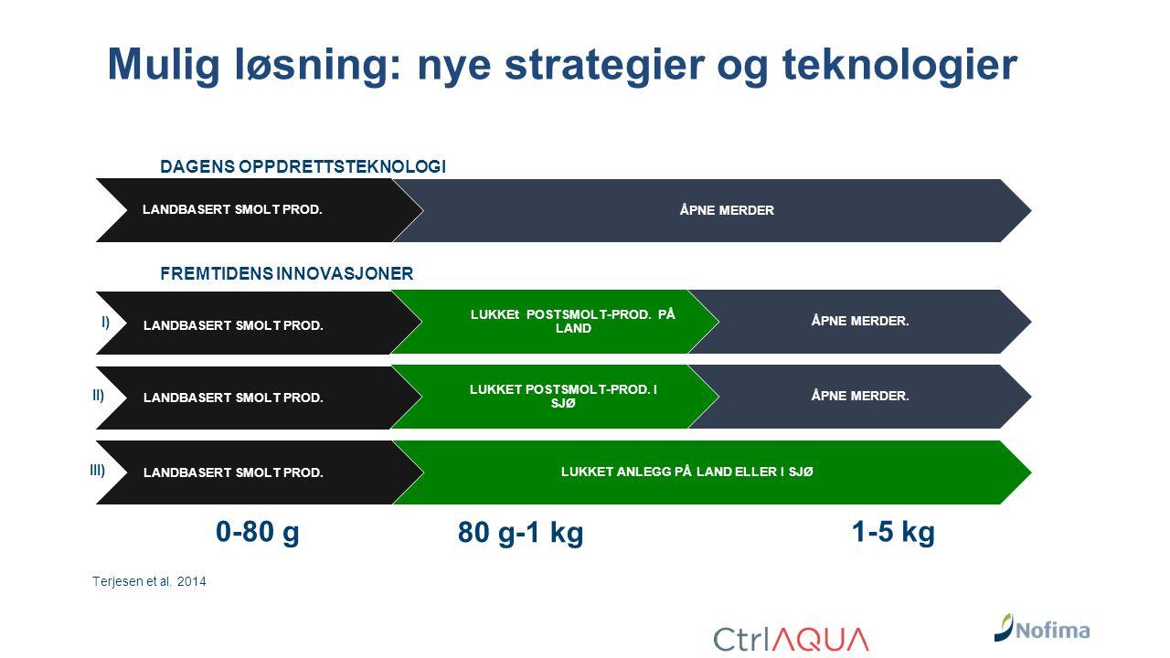 Mulig løsning: nye strategier og teknologier LANDBASERT SMOLT PROD.