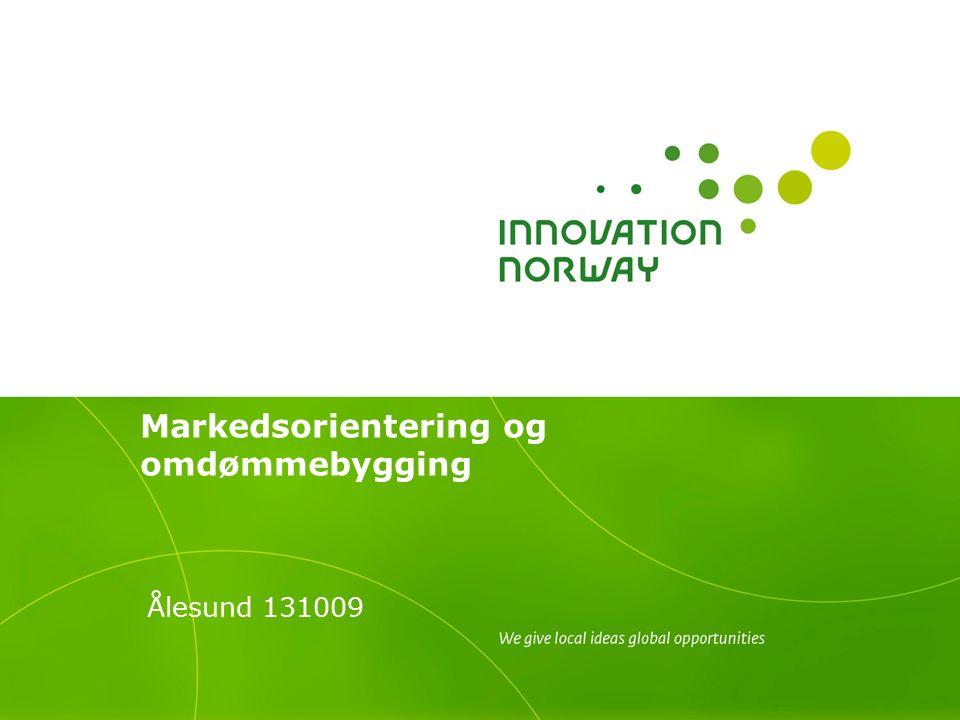 Markedsorientering og omdømmebygging Ålesund 131009