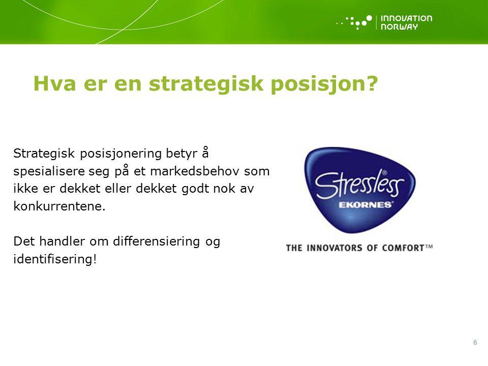 6 Hva er en strategisk posisjon.