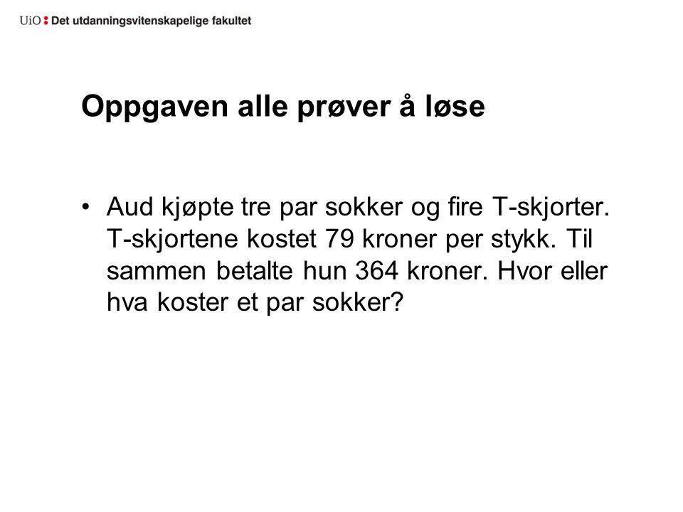 RESULTATER FRA FORSKNING PÅ TEKSTOPPGAVER