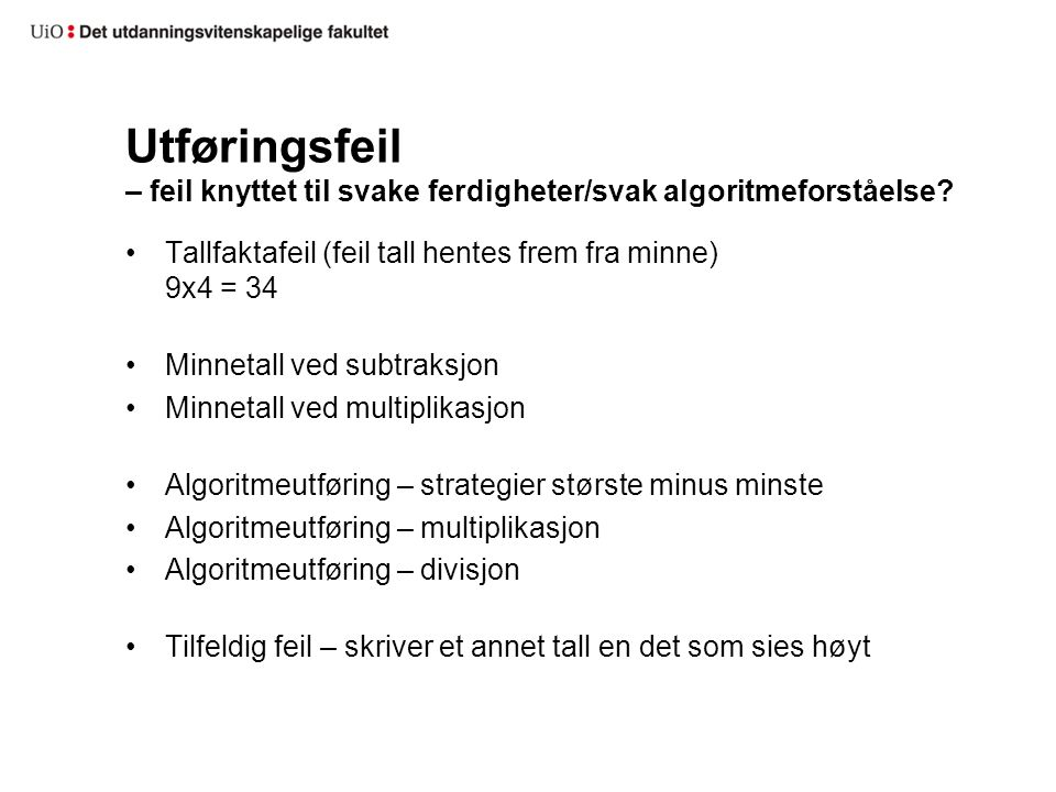 Min egen studie Norwegian grade 8 students' competence in understanding and solving multistep arithmetic word problems