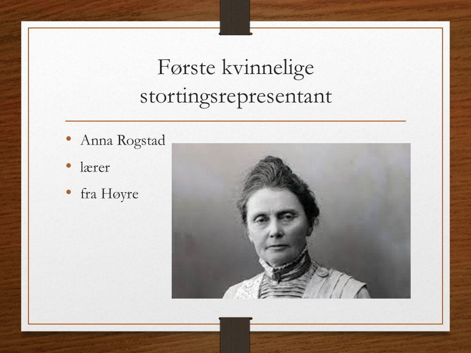Første kvinnelige stortingsrepresentant Anna Rogstad lærer fra Høyre