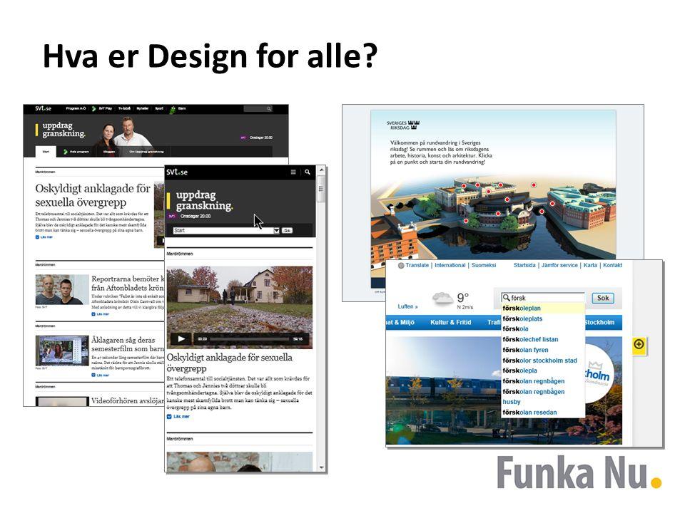 Hva er Design for alle?