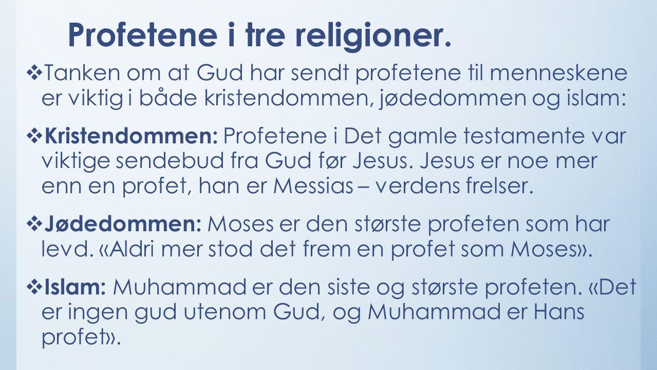 Profetene i tre religioner.