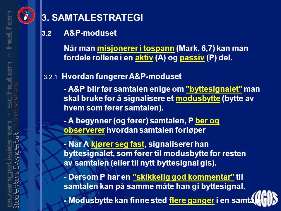3.2 A&P-moduset Når man misjonerer i tospann (Mark.