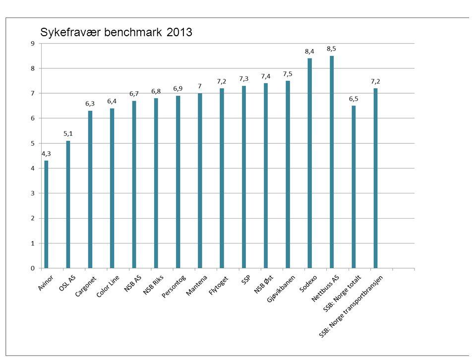 Sykefravær benchmark 2013