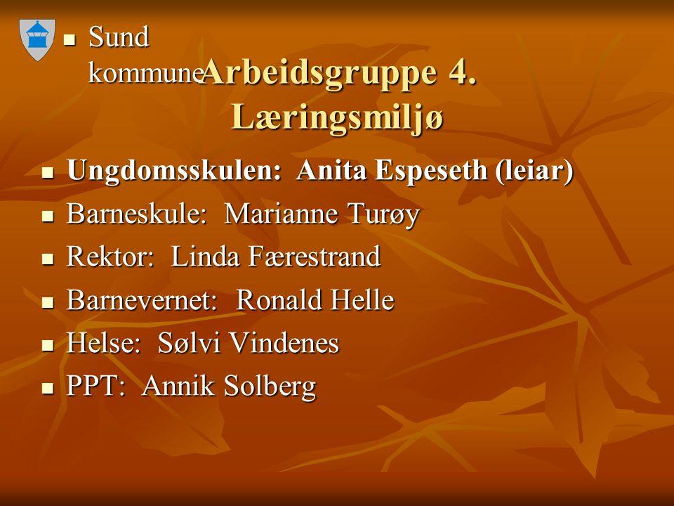 Sund kommune Sund kommune Arbeidsgruppe 4.