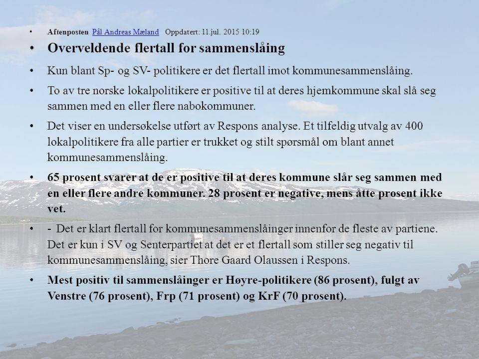 Aftenposten Pål Andreas Mæland Oppdatert: 11.jul.