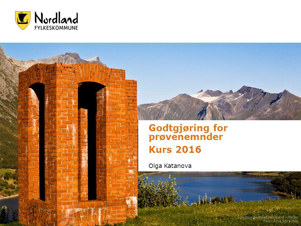 Godtgjøring for prøvenemnder Kurs 2016 Olga Katanova Skulpturlandskap Nordland – Meløy Foto: Aina Sprauten