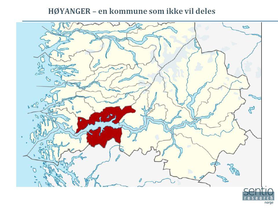 HØYANGER – en kommune som ikke vil deles