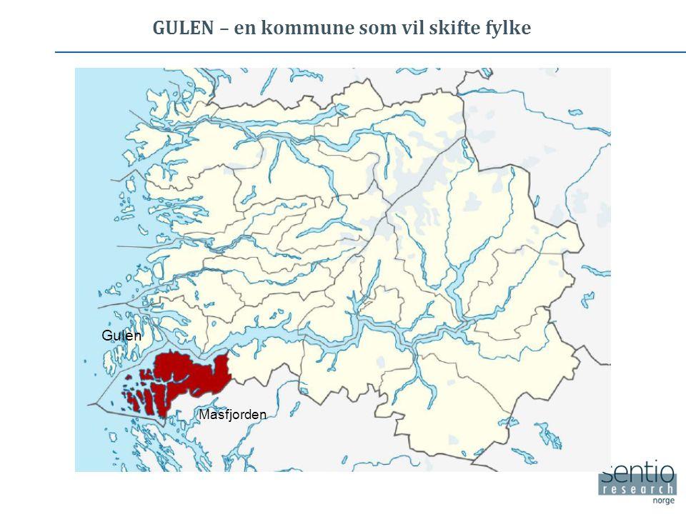 GULEN – en kommune som vil skifte fylke Masfjorden Gulen