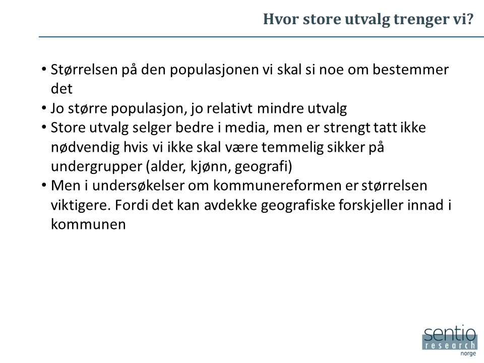 Hva mener nordmenn flest Er store tilhengere av at kommuner bør slå seg sammen Bare ikke sin egen..