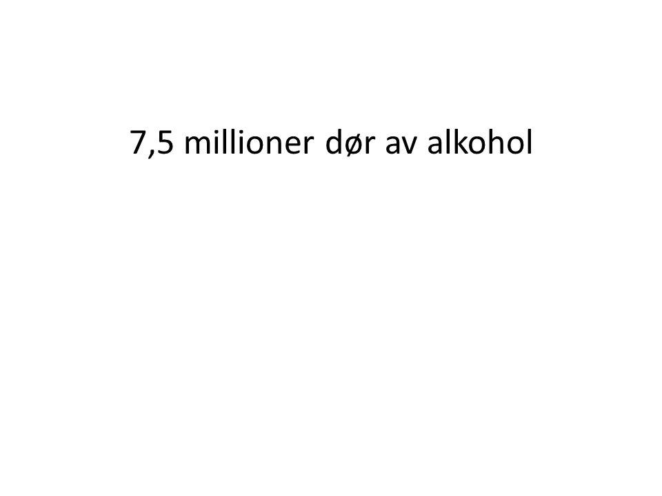 7,5 millioner dør av alkohol