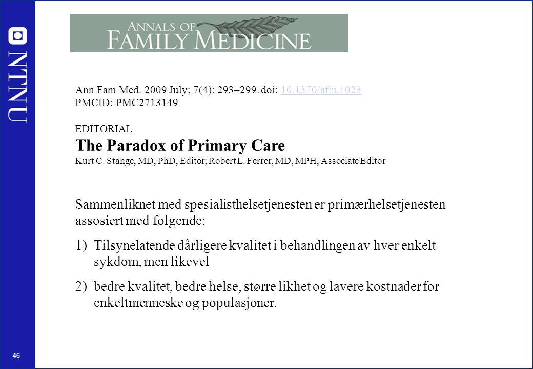 46 Ann Fam Med. 2009 July; 7(4): 293–299.