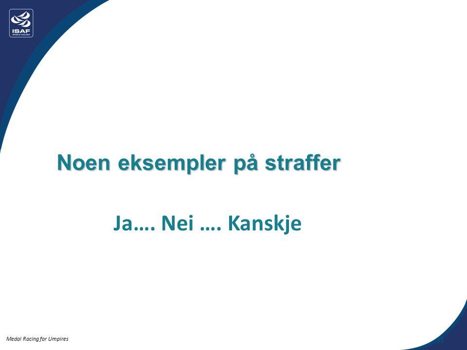 Medal Racing for Umpires Noen eksempler på straffer Ja…. Nei …. Kanskje 33