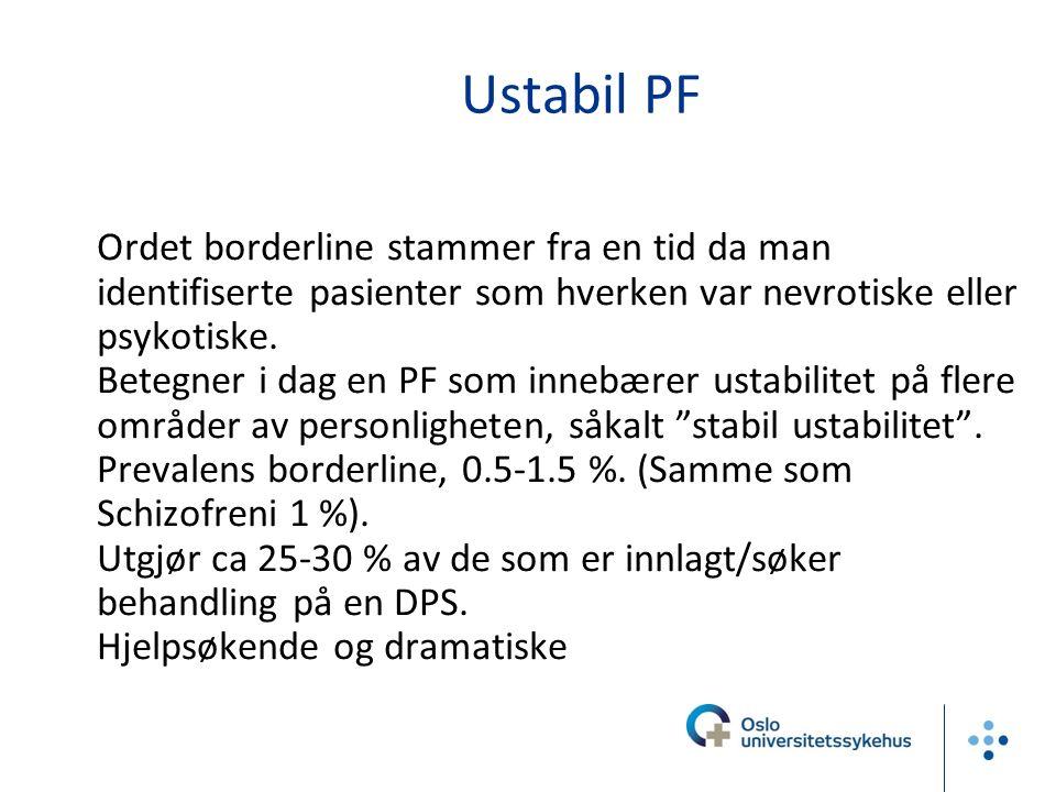 Differensialdiagnostikk  BPF og bipolar lidelse: ikke gjensidig utelukkende diagnoser.