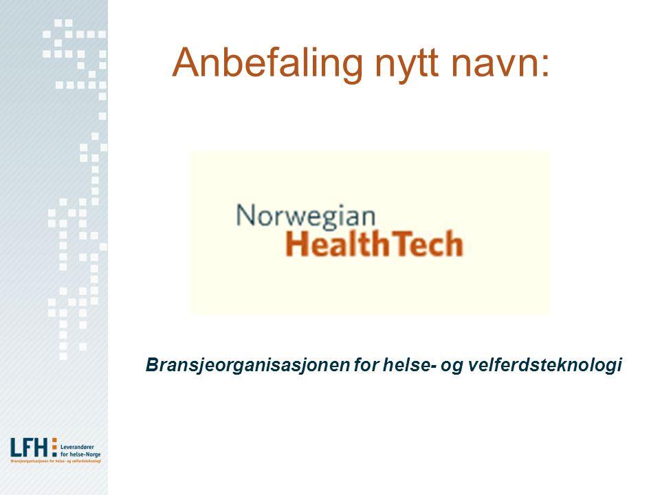 Anbefaling nytt navn: Bransjeorganisasjonen for helse- og velferdsteknologi