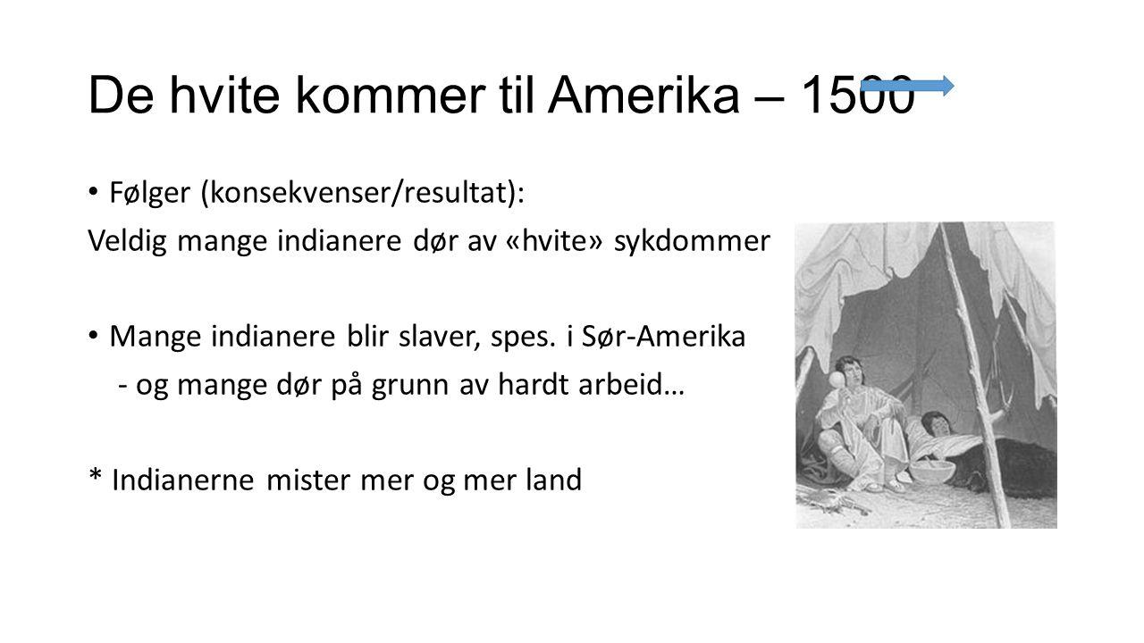 1775: UAVHENGIGHETSKRIGEN (hva betyr «Uavhengighet»?) Amerikanerne i de 13 koloniene på østkysten av Nord-Amerika vil ha uavhengighet, de vil styre seg selv.