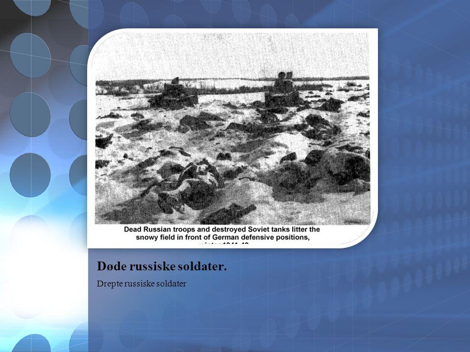Døde russiske soldater. Drepte russiske soldater