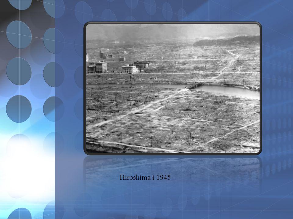 ATOMBOMBEN USA hadde atombomben.I 1945 slapp de atombomber over Hiroshima og Nagasaki.
