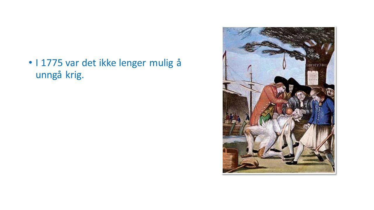 I 1775 var det ikke lenger mulig å unngå krig.