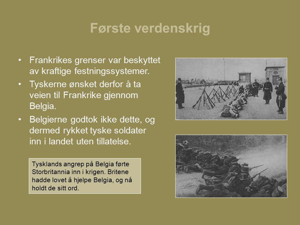 Første verdenskrig Frankrikes grenser var beskyttet av kraftige festningssystemer.