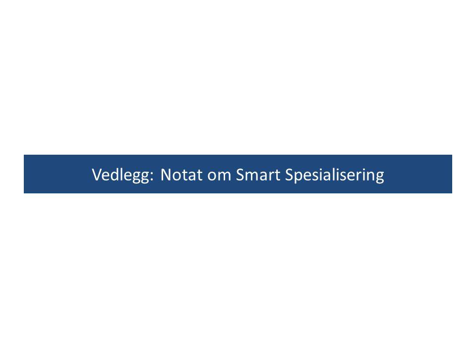 Vedlegg: Notat om Smart Spesialisering