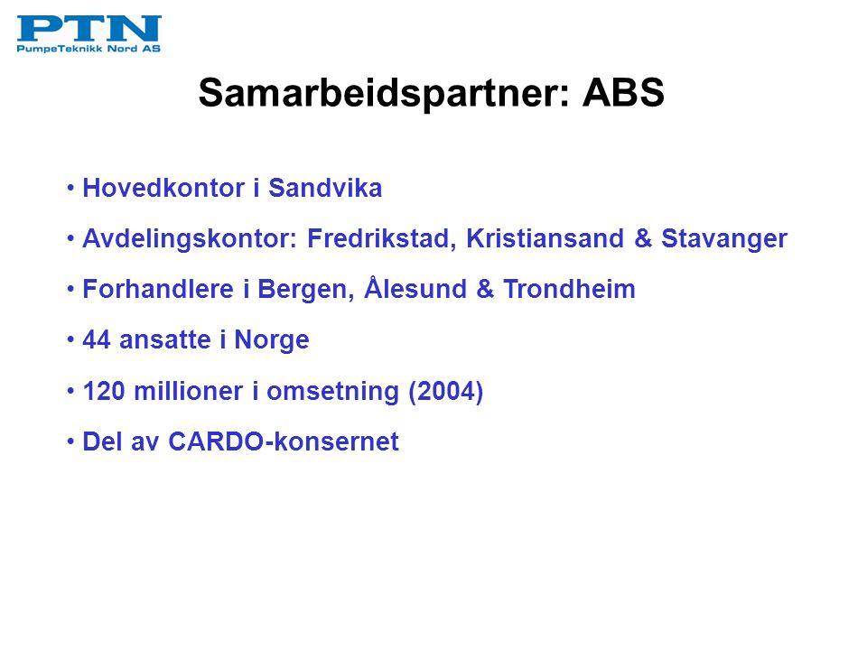 Samarbeidspartner: ABS Hovedkontor i Sandvika Avdelingskontor: Fredrikstad, Kristiansand & Stavanger Forhandlere i Bergen, Ålesund & Trondheim 44 ansa