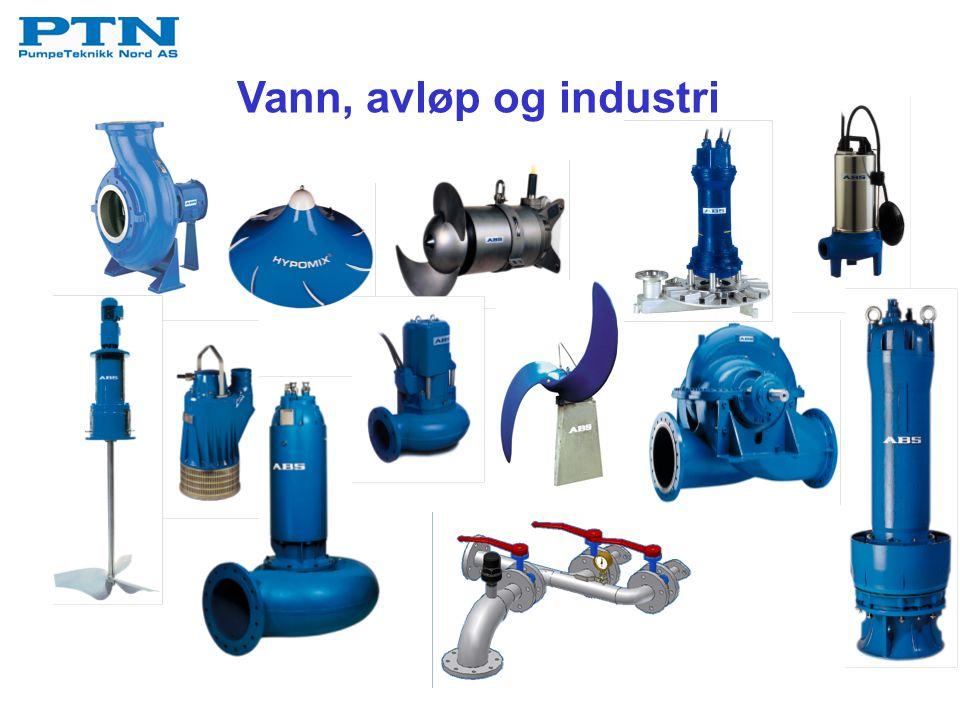 ABS virvelhjuls- og ContraBlock pumper - med til- pasnings- pumpeklo - for pumpe- stasjoner av andre fabrikat