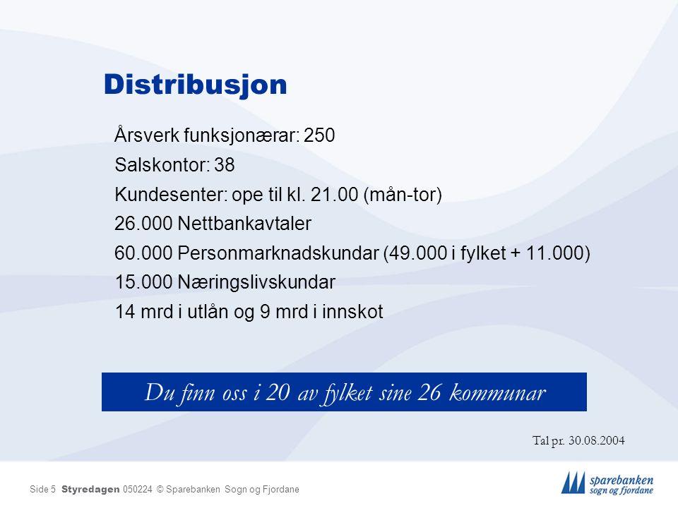 Side 6 Styredagen 050224 © Sparebanken Sogn og Fjordane Adm.